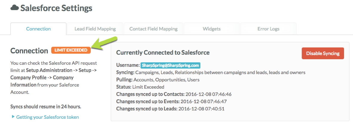 Understanding Salesforce Daily API Limits – SharpSpring